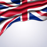 Union jack flag realistic  Stock Photography