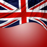 Union Jack flag. On red background stock photos