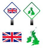 Union Jack flag signs Stock Photography