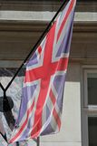 Union Jack Flag. Of the United Kingdom at Building Royalty Free Stock Image