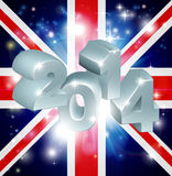 2014 Union Jack Flag Stock Photo