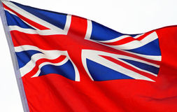 Union Jack flag waving proudly in the breeze Royalty Free Stock Image