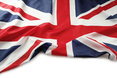 Union Jack flag. On white background Royalty Free Stock Photography