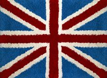 Union Jack. Flag at wool carpet Stock Photo