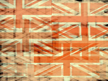 Union Jack flaga abstrakt Obraz Royalty Free
