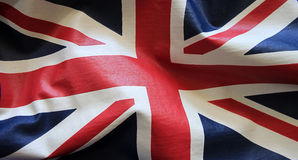 Union Jack flaga tkanina Obrazy Royalty Free