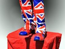 Union Jack flaga UK fotografia stock