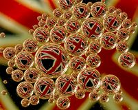 Union Jack flaga w bąblach Zdjęcia Royalty Free