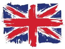 Union Jack flagga av Förenade kungariket vektor illustrationer