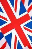 Union Jack-Flaggen-Hintergrund Lizenzfreie Stockbilder