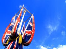 Union Jack flags Royalty Free Stock Photo