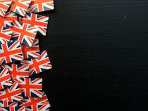Union Jack Flags on a Blackboard Royalty Free Stock Image