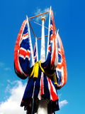 Union Jack flags Royalty Free Stock Photography