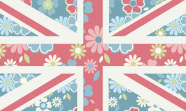 Union Jack Floral Flag Stock Photo