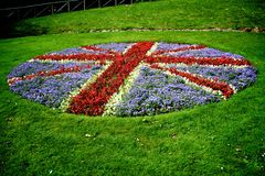 Union Jack flowers. Flowers in shape of the Union Jack flag Royalty Free Stock Photography