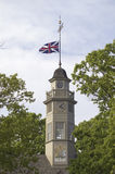 Union Jack flying from the roof cupola Royalty Free Stock Images