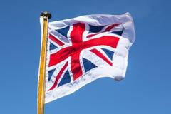 Union Jack Flying Royalty Free Stock Photo