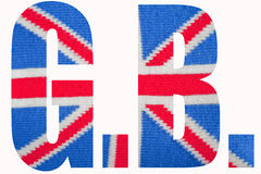 Union Jack G.B. The national flag (Union Jack) of the United Kingdom knitted Stock Images