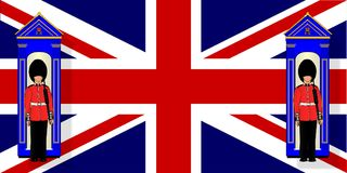 Union Jack With Guards And Guard Boxes royalty free illustration