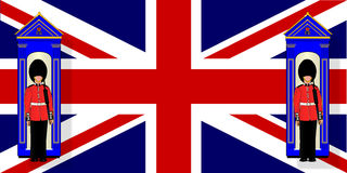 Union Jack With Guards Royalty Free Stock Photos
