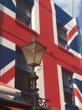 Union jack. House facade painted in British colours Stock Images