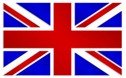 Union Jack i metallisk färgstil Royaltyfri Bild