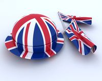 Union Jack Jubilee Hat and  Flag Royalty Free Stock Image