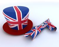 Union Jack Jubilee Hat and  Flag Royalty Free Stock Images
