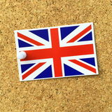 Union Jack Label Royalty Free Stock Photography