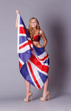 Union jack lady Stock Photography