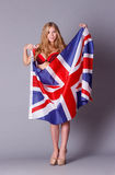 Union jack lady Stock Image