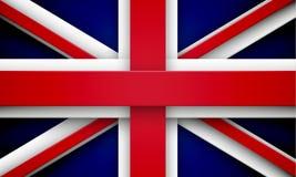 Union Jack med effekter stock illustrationer