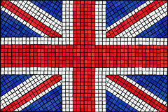 Union Jack mosaic. A Union Jack flag made from mosaic tiles Royalty Free Stock Photography
