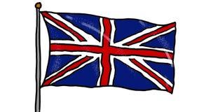 Dibujo De La Bandera De Gran Bretaña Almacen De Video Vídeo De