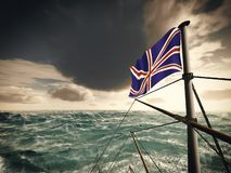 Union Jack over ocean Royalty Free Stock Images