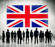 Union Jack With People Stock Photos