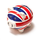 Union Jack piggy bank stock photo