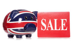 Union jack piggy bank sale Royalty Free Stock Photos