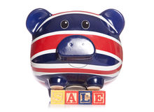 Union jack piggy bank Stock Images
