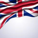 Union Jack-realistische vlag Stock Fotografie