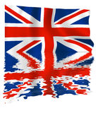 Union Jack Reflection Royalty Free Stock Photos
