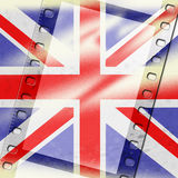 Union Jack Represents British Flag And Background Royalty Free Stock Photography