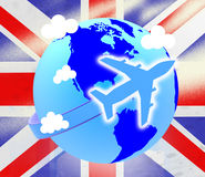 Union Jack Represents English Flag And Airline Stock Images