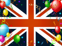 Union Jack Represents English Flag And Balloon Stock Photos