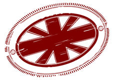 Union jack rubber stamp with place for any text in Royalty Free Stock Photos
