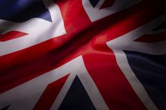 Union Jack in Shadows stock image