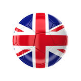 Union Jack soccer ball. 3d image of uk soccer ball Royalty Free Stock Images