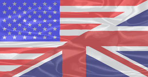 Union Jack and Stars and Stripes Royalty Free Stock Images