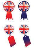 Union Jack Tags Royalty Free Stock Images