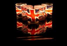 Union Jack Tealights Image libre de droits